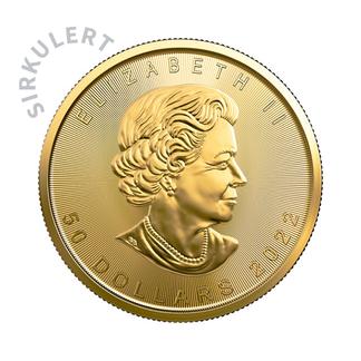1 oz Sirkulert Maple Leaf Gullmynt